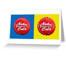 Fallout Nuka Cola Cap Bottle Greeting Card