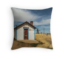 Powderville Post Office Throw Pillow