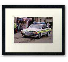 Police Mk2 Ford Granada 2.8i Framed Print