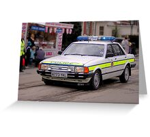 Police Mk2 Ford Granada 2.8i Greeting Card