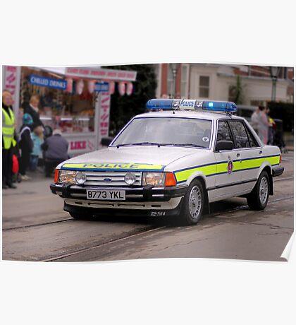 Police Mk2 Ford Granada 2.8i Poster