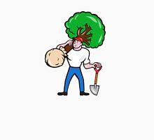 Gardener Arborist Carrying Tree Cartoon Unisex T-Shirt