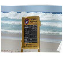 Beach Report Poster