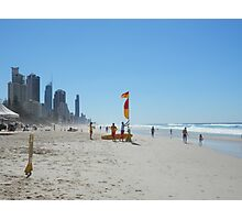 Surfers Paradise from Broadbeach Beach Easter Saturday Photographic Print