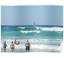 Beach Yacht Poster