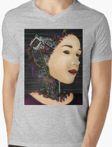 Cyborg in disguise Mens V-Neck T-Shirt