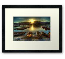Boats at Sunset Framed Print