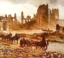 World War I, Ypres, Belgium 1915 by Dennis Melling
