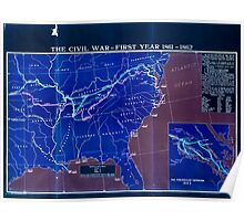 Civil War Maps 1759 The comprehensive series historical-geographical maps of the United States Inverted Poster