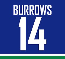Vancouver Canucks Alex Burrows Jersey Back Phone Case by RussJericho23