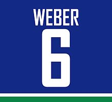 Vancouver Canucks Yannick Weber Jersey Back Phone Case by RussJericho23