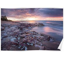 Wagait Beach Storm Colours Poster