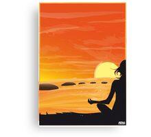 YOGA SUNSHINE Canvas Print