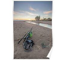 West Point Fishing Sunrise Poster