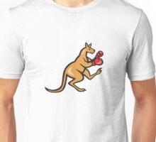 Kangaroo Kick Boxer Boxing Cartoon Unisex T-Shirt