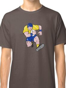 Rugby Player Running Charging Cartoon Classic T-Shirt