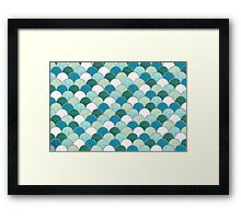 Pattern Fish Scales Framed Print