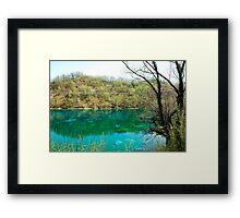 Lago di Cornino in Spring Framed Print