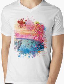 LANDSCAPE ZEN Mens V-Neck T-Shirt