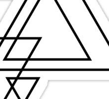 Blue Triangle Sticker