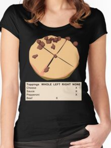 None Pizza with Left Beef Women's Fitted Scoop T-Shirt