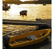 Dinghy Sunset Photographic Print