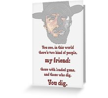 Clint, the Blondie. Greeting Card
