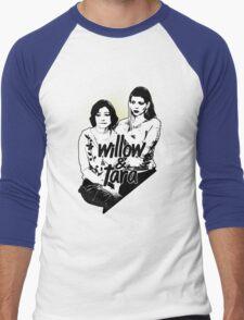 Willow & Tara (with text) Men's Baseball ¾ T-Shirt