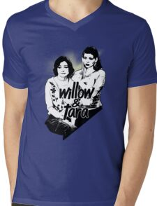 Willow & Tara (with text) Mens V-Neck T-Shirt