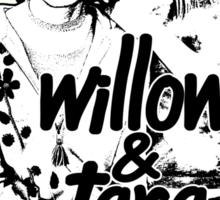 Willow & Tara (with text) Sticker