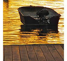 Dinghy at night Photographic Print
