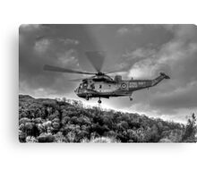 Sea King Helicopter Metal Print