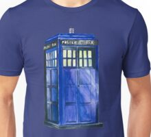 The TARDIS - Doctor Who Inspired Watercolour Unisex T-Shirt