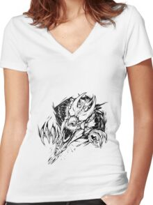 Breaking out - Welsh dragon Women's Fitted V-Neck T-Shirt