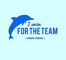 For The Team - Nanase Haruka by chocobohead
