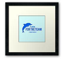 For The Team - Nanase Haruka Framed Print