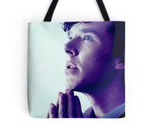 Prayer in Blue Tote Bag
