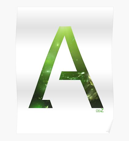 Alpha letter space concept Poster