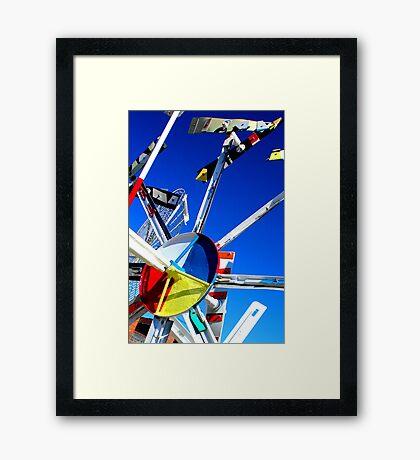 Whirligig Top 7 Framed Print