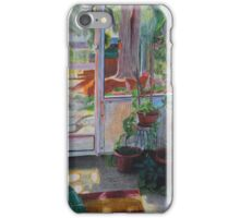 Backyard Hangout watercolor cases iPhone Case/Skin