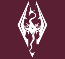 Skyrim Logo White by aguirreink