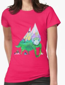 Over The Mountain Womens Fitted T-Shirt
