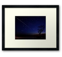 International Space Station Meets Gower Framed Print