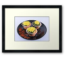 Spinach and cheese muffins Framed Print