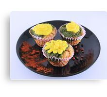 Spinach and cheese muffins Canvas Print