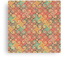 Retro pattern with swirls Canvas Print