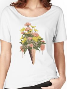Spring Flowers and Ice Cream Women's Relaxed Fit T-Shirt