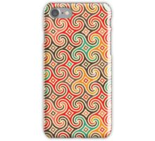 Retro pattern with swirls iPhone Case/Skin