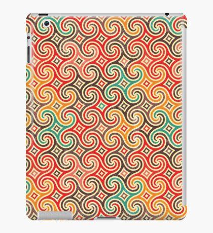 Retro pattern with swirls iPad Case/Skin
