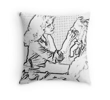 Jeanie Jefferies--The Make Up Artist Throw Pillow